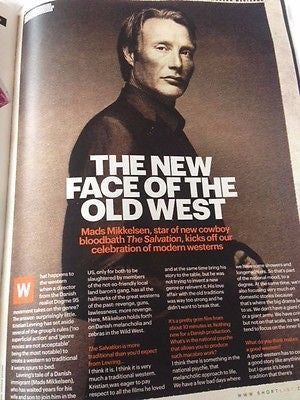MADS MIKKELSEN interview SALVATION UK 1 DAY ISSUE 2015 RYAN GOSLING PETER FIRTH