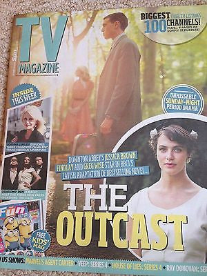 (UK) TV MAGAZINE JULY 2015 JESSICA BROWN FINDLAY Downton Abbey HAYLEY ATWELL