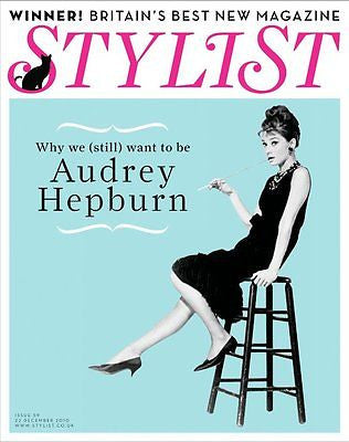 STYLIST MAGAZINE DECEMBER 2010 AUDREY HEPBURN PHOTO COVER SPECIAL