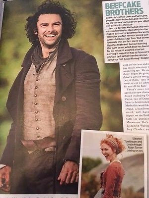 (UK) WEEKEND MAGAZINE MAY 2017 AIDAN TURNER POLDARK STUNNING PHOTOS SERIES 3