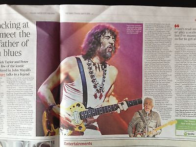 JOHN MAYALL PHOTO INTERVIEW APRIL 2014 ERIC CLAPTON MICK TAYLOR PETER GREEN