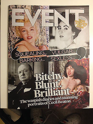 EVENT MAGAZINE AUG 2014 ELIZABETH TAYLOR JULIE ANDREWS GRACE KELLY SALVADOR DALI