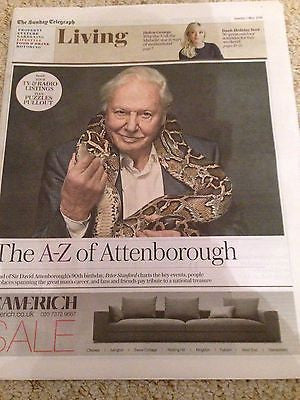 (UK) TELEGRAPH Living May 2016 SIR DAVID ATTENBOROUGH HELEN GEORGE  CHRIS EVANS