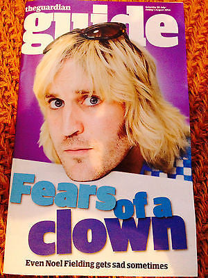 Mighty Boosh NOEL FIELDING PHOTO COVER GUIDE MAGAZINE JULY 2014 BRAND NEW
