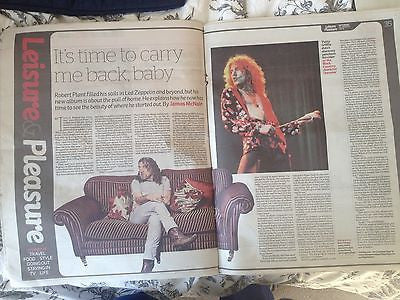 ROBERT PLANT PHOTO INTERVIEW UK 1 DAY ISSUE 2014 LED ZEPPELIN JIMMY PAGE