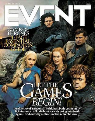 GAME OF THRONES 14 PAGE PHOTO MAGAZINE APRIL 2015 KIT HARINGTON EMILIA CLARKE