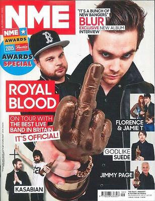 NME MAGAZINE FEBRUARY 2015 ROYAL BLOOD KASABIAN JIMMY PAGE SUEDE BLUR EXCLUSIVE