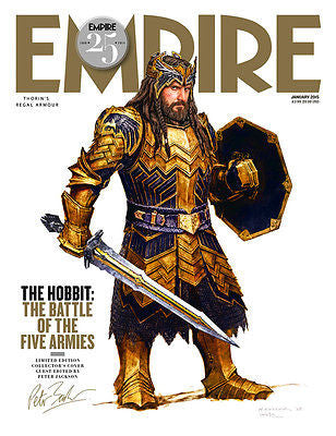 EMPIRE MAGAZINE JANUARY 2015 RICHARD ARMITAGE - THORIN RARE UK COLLECTOR'S COVER