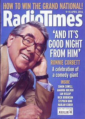 RONNIE CORBETT Stephen King Bertie Carvel UK Radio Times Magazine 9 April 2016