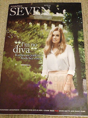 KATHERINE JENKINS PHOTO COVER INTERVIEW 2014 SEVEN MAGAZINE MICHAEL FASSBENDER