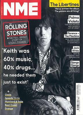 NME MAGAZINE APRIL 25 2015 KEITH RICHARDS THE ROLLING STONES STICKY FINGERS