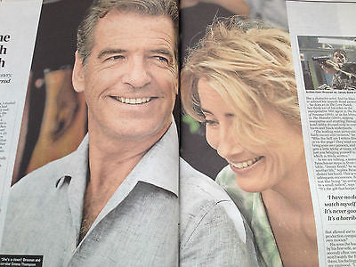 James Bond PIERCE BROSNAN PHOTO INTERVIEW 2014 - COURTNEY LOVE EMMA THOMPSON