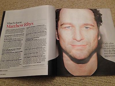 MATTHEW RHYS interview CHRIS O'DOWD UK 1 DAY ISSUE 2014 NEW TORVILL & DEAN
