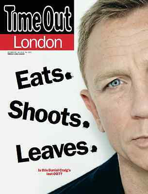 NEW Time Out MAGAZINE = JAMES BOND Spectre Exclusive UK Interview Daniel Craig