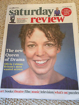 BROADCHURCH OLIVIA COLMAN PHOTO COVER INTERVIEW TIMES REVIEW JUNE 2015