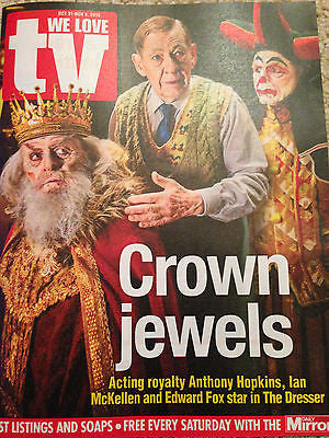 the dresser ANTHONY HOPKINS SARAH LANCASHIRE PHOTO INTERVIEW UK TV MAGAZINE 2015