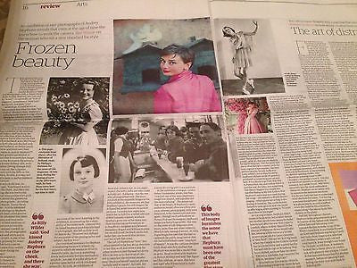 GUARDIAN REVIEW JUNE 2015 AUDREY HEPBURN PHOTO FEATURE - THE CULT OF HEPBURN
