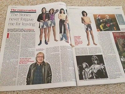 BILL WYMAN interview ROLLING STONES UK ISSUE 2015 JACKSON POLLOCK LAURA LINNEY