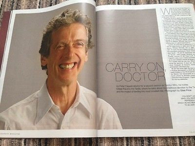 Dr Who PETER CAPALDI PHOTO INTERVIEW TELEGRAPH MAGAZINE 2015 MICK HUCKNALL