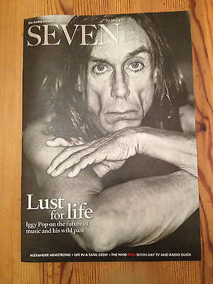 IGGY POP UK SEVEN PHOTO COVER OCTOBER 2014 ONE DAY ONLY MAGAZINE THE WHO