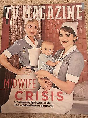 UK TV Magazine January 2017 Call The Midwife Helen George Charlotte Ritchie