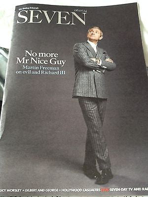 Sherlock MARTIN FREEMAN Photo Cover interview SEVEN MAGAZINE July 2014