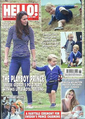 (UK) HELLO Magazine 6/29/15 ROYAL BABY PRINCE GEORGE KATE MIDDLETON POLO PHOTOS