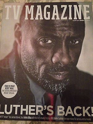 Luther IDRIS ELBA PHOTO COVER INTERVIEW UK TV MAGAZINE December 2015 NEW