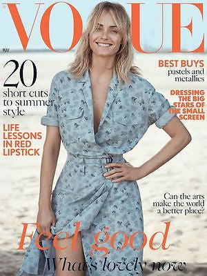 Vogue UK Magazine May 2017 AMBER VALLETTA Photo Cover Interview