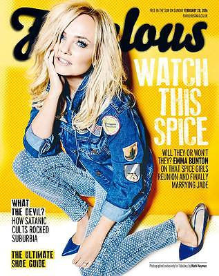 FABULOUS Magazine February 2016 Spice Girls EMMA BUNTON PHOTO COVER INTERVIEW
