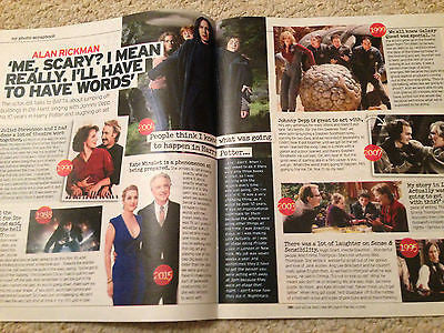 Snape Harry Potter ALAN RICKMAN PHOTO INTERVIEW UK MAGAZINE NOVEMBER 2015