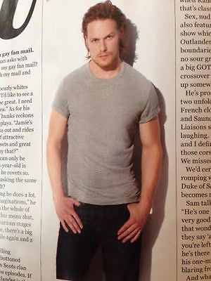 GAY TIMES MAGAZINE MAY 2016 SAM HEUGHAN OUTLANDER HUNK PHOTO INTERVIEW