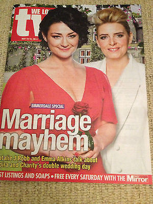 WE LOVE TV MAGAZINE May 2014 - NATALIE J ROBB EMMA ATKINS EMMERDALE BEN HARDY