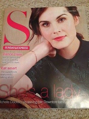Downton Abbey MICHELLE DOCKERY UK S MAGAZINE 2015 SHANE FILAN GLEB SAVCHENKO