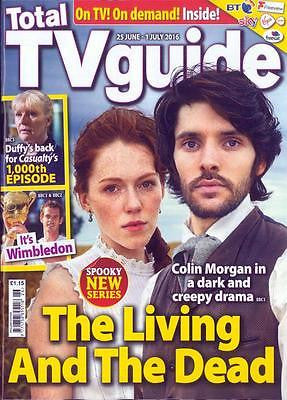 COLIN MORGAN - THE LIVING AND THE DEAD - Total TV Guide UK magazine June 2016