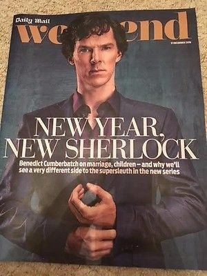 UK Weekend Magazine 31 Dec 2016 SHERLOCK Benedict Cumberbatch interview