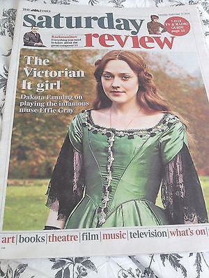 EFFIE GRAY Dakota Fanning photo Cover Interview TIMES REVIEW September 27 2014