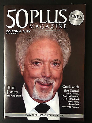 TOM JONES PHOTO COVER 50 PLUS MAGAZINE JUNE 2015 - NEW ISSUE