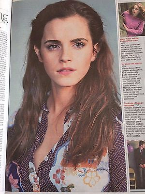 (UK) TIMES SATURDAY REVIEW Harry Potter EMMA WATSON PHOTO COVER INTERVIEW