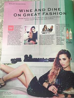 Stylist Magazine September 2014 Amber Le Bon Laura Carmichael Downton Abbey