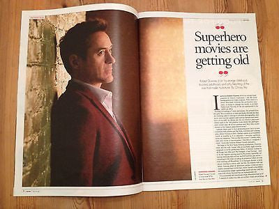 IRON MAN Robert Downey Jr UK PHOTO INTERVIEW OCTOBER 2014 BLONDIE DEBBIE HARRY