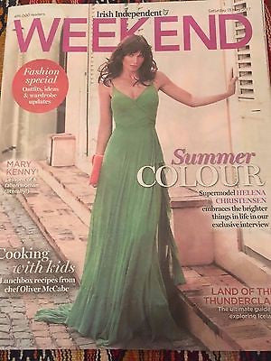 HELENA CHRISTENSEN UK PHOTO COVER INTERVIEW IRISH WEEKEND MAGAZINE MAY 2017