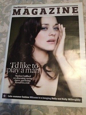 TWO DAYS ONE NIGHT MARION COTILLARD PHOTO COVER OBSERVER MAGAZINE AUGUST 2014