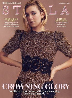 The Crown VANESSA KIRBY Photo Interview UK Stella Magazine November 2016 NEW