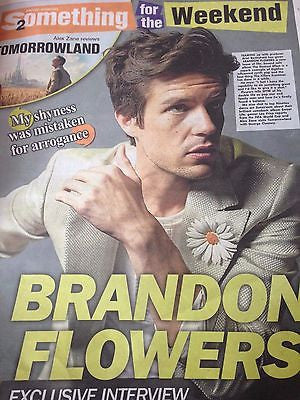 (UK) THE SUN WEEKEND MAY 2015 BRANDON FLOWERS THE KILLERS BOY GEORGE