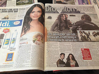 JESSICA FINDLAY BROWN interview DOWNTON ABBEY UK 1 DAY ISSUE 2014