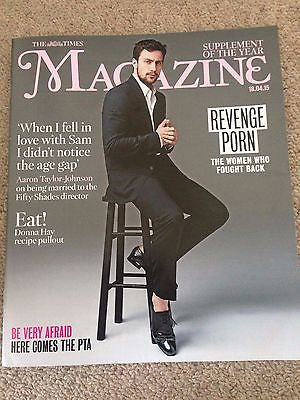 Age of Ultron AARON TAYLOR-JOHNSON PHOTO COVER INTERVIEW TIMES MAGAZINE 2015