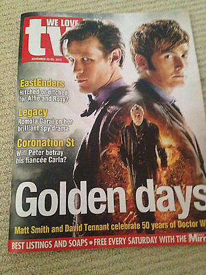 WE LOVE TV MAGAZINE DOCTOR DR WHO 50TH ANNIVERSARY - DAVID TENNANT JOHN HURT