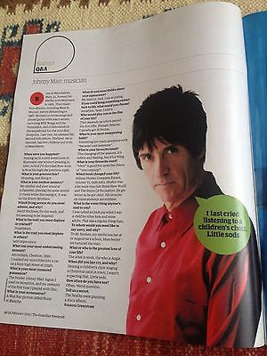 Guardian Weekend Magazine 2015 Johnny Marr THE SMITHS