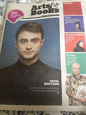 Daniel Radcliffe Harry Potter Cover Clippings UK Promo Independent October 2014